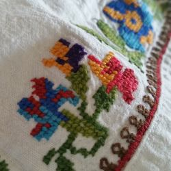 Cross stitch embroidery of east-central Serbia, Morava valley.