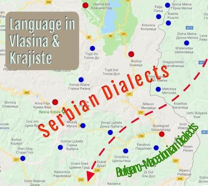 Dialectile Map Vlasina